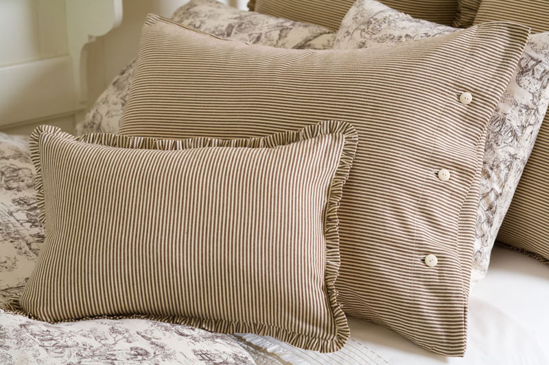Farmhouse Stripe Duvet Cover RosenberryRooms