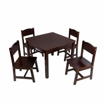 Farmhouse Table and Four Chairs in Espresso