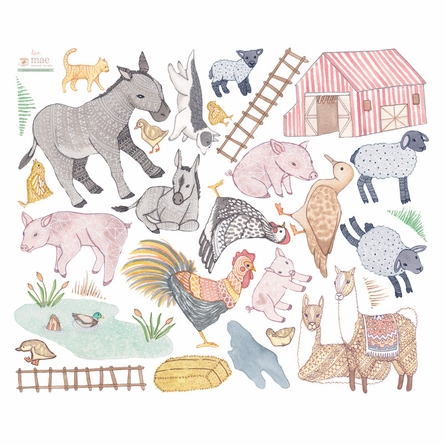 Farmyard Nursery Fabric Wall Decals