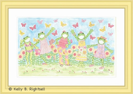 Fashion Frog Party Framed Art