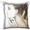 Fashion Girl Throw Pillow