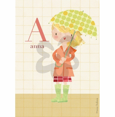 Fashion Rain Jacket Canvas Wall Art