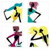 Fashionista Four Paint by Number Wall Mural