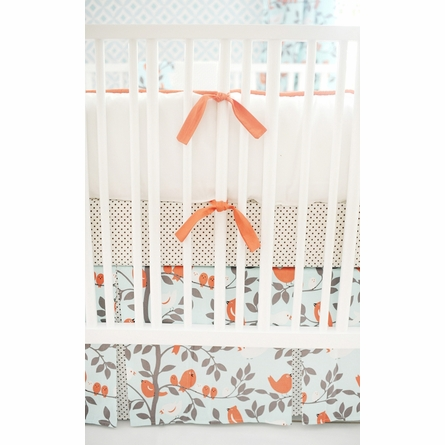 Feather Your Nest in Aqua Crib Bedding Set