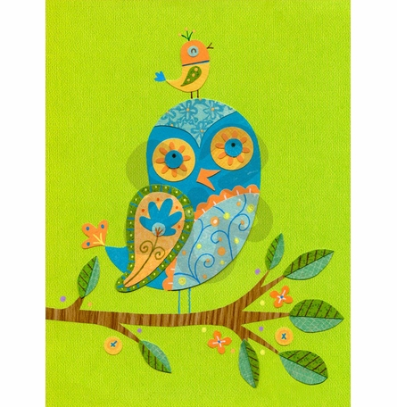 Feathered Friends Canvas Reproduction