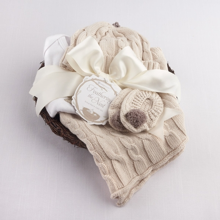 Feathering the Nest Four-Piece Layette Gift Set