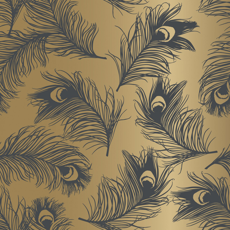 Feathers Twilight Removable Wallpaper by Tempaper