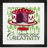 Feed Your Creativity Framed Art Print