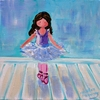 Feeling Blue Ballerina Hand Painted Canvas