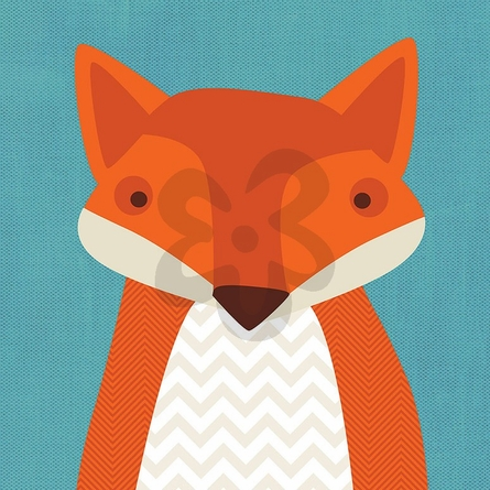 Felix Fox Canvas Wall Art
