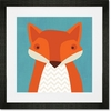 Felix Fox Framed Art Print