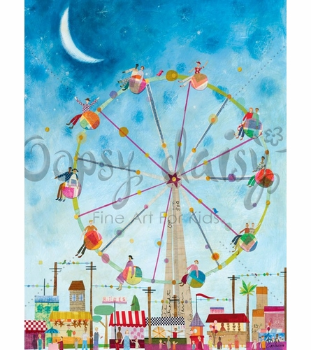 Ferris Wheel Canvas Wall Art
