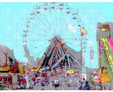 Ferris Wheel Personalized Framed Art Print