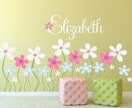 Field of Flowers Fabric Wall Decal