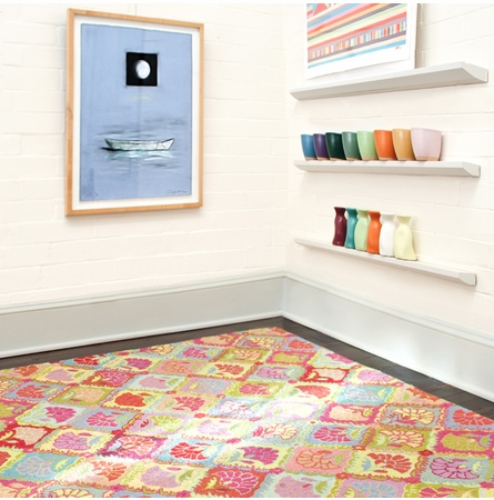 Field of Flowers Wool Micro-Hooked Rug