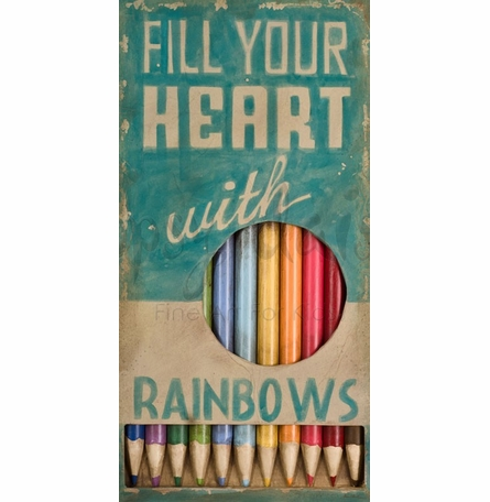 Fill Your Heart with Rainbows Canvas Wall Art