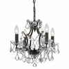 Filmore Four Light Crystal Bronze Mini-Chandelier