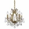 Filmore Four Light Crystal Gold Mini-Chandelier
