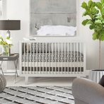 Finn Crib Bedding Set in Charcoal