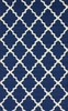 Fiona Trellis Indoor/Outdoor Rug in Navy