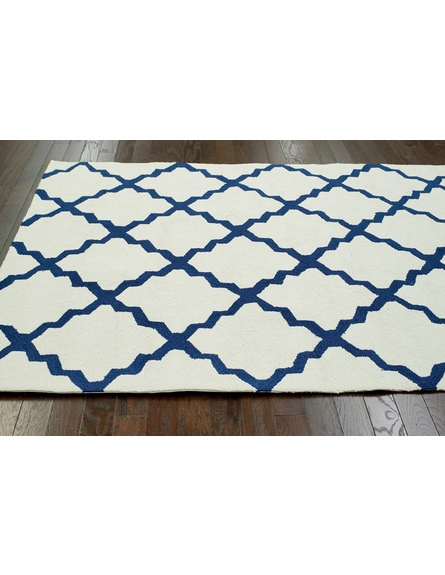 Fiona Trellis Indoor/Outdoor Rug in White