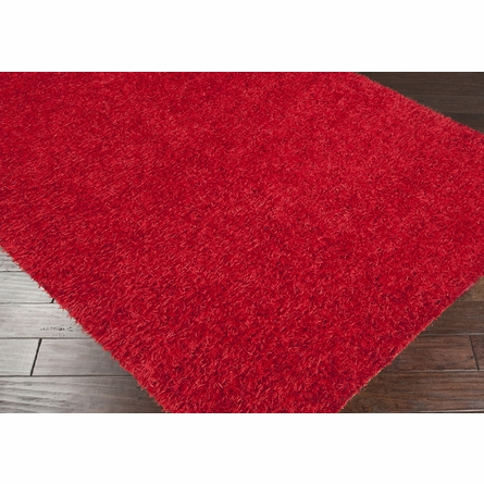 Fire Brick Red Shag Taz Rug