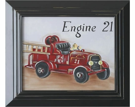 Fire Engine Hand Painted Art