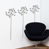 Fire-Flowers in Medium Grey Wall Decal