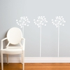 Fire-Flowers in White Wall Decal