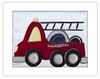 Fire Truck Framed Canvas Reproduction