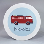 Fire Truck Personalized 3-Piece Dinnerware Set