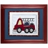Fire Truck Personalized Framed Canvas Reproduction