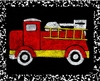 Fire Truck - Recess IV Canvas Reproduction