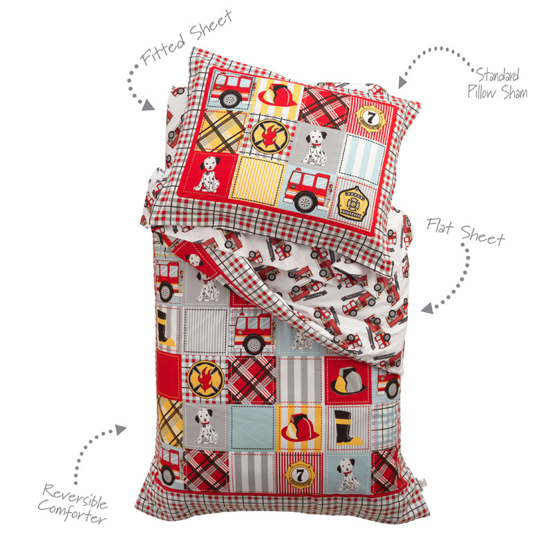 Fire Truck Toddler Bedding By KidKraft