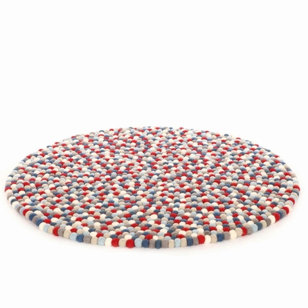 Firecracker Felt Ball Rug