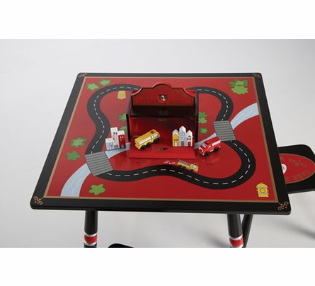 Firefighter Table & Two Stool Set