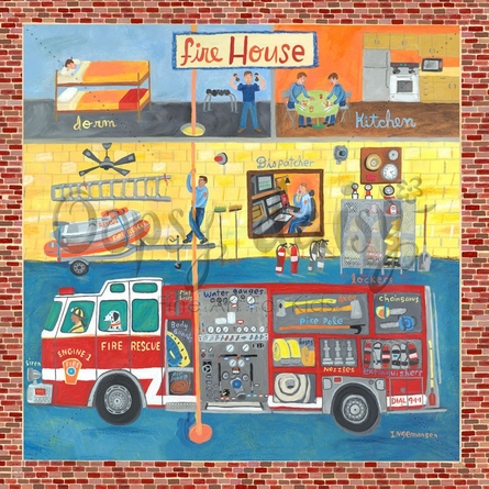 Firehouse Canvas Wall Art