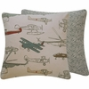 First in Flight Gray Throw Pillow