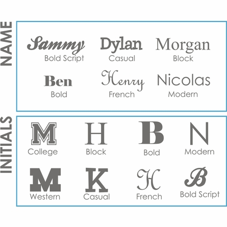First Name Boy Personalized Wall Decal