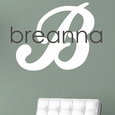 First Name Girl Personalized Wall Decal