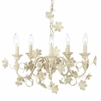 Five Arm Ivory Flower Garden Chandelier