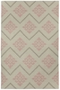 Flakes Rug in Peony Pink
