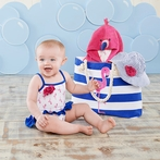 Flamingo 4-Piece Nautical Gift Set with Canvas Tote
