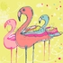 Flamingo Fun Canvas Wall Art