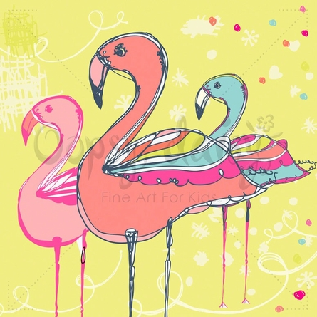 Flamingo Fun Poster Wall Decal