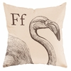 Flamingo in Sand Throw Pillow