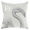 Flamingo in Warm Grey Throw Pillow