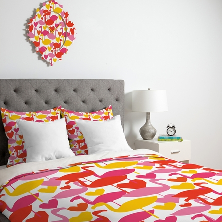 Flamingo Loves Luxe Duvet Cover