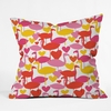 Flamingo Loves Throw Pillow
