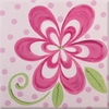 Flamingo Pink Bloom Imagination Square Hand Painted Canvas Art